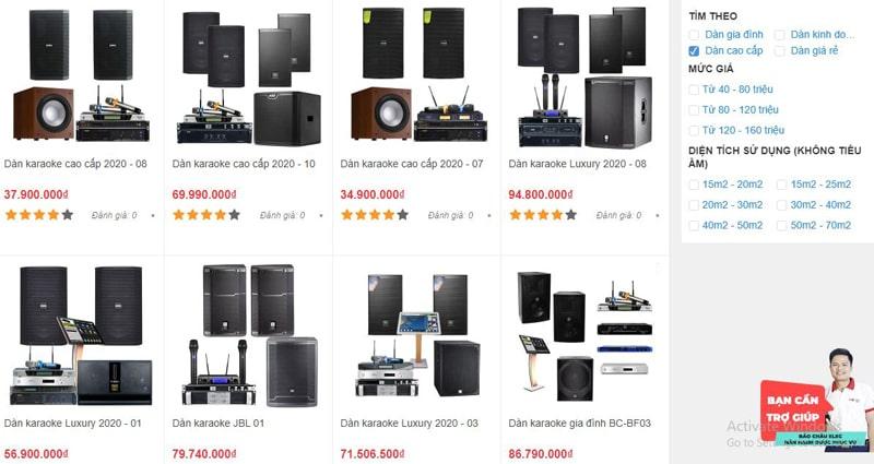 Các dàn karaoke cao cấp đang được Bảo Châu Elec Đà Nẵng cung cấp