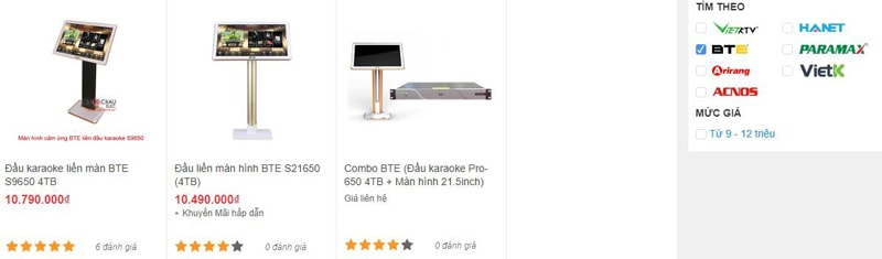 Bảo Châu Elec TPHCM bán đầu karaoke BTE chính hãng, giá rẻ nhất thị trường