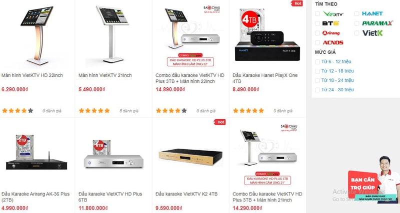 Bảo Châu Elec Đà Nẵng bán đầu karaoke chính hãng với giá rẻ nhất thị trường