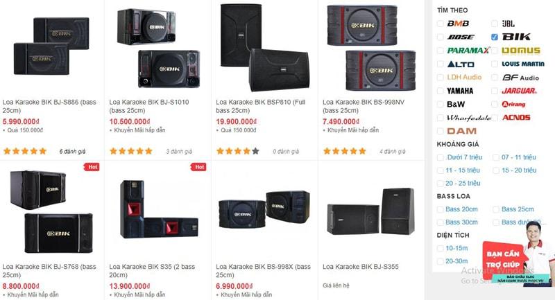 Bảo Châu Elec bán loa karaoke BIK chính hãng, giá rẻ nhất thị trường Đà Nẵng