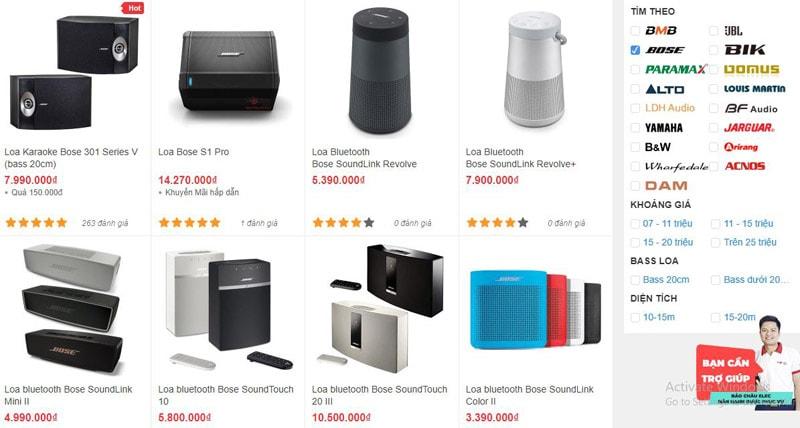 Những mẫu loa karaoke Bose chính hãng, giá tốt được Bảo Châu Elec Hà Nội cung cấp