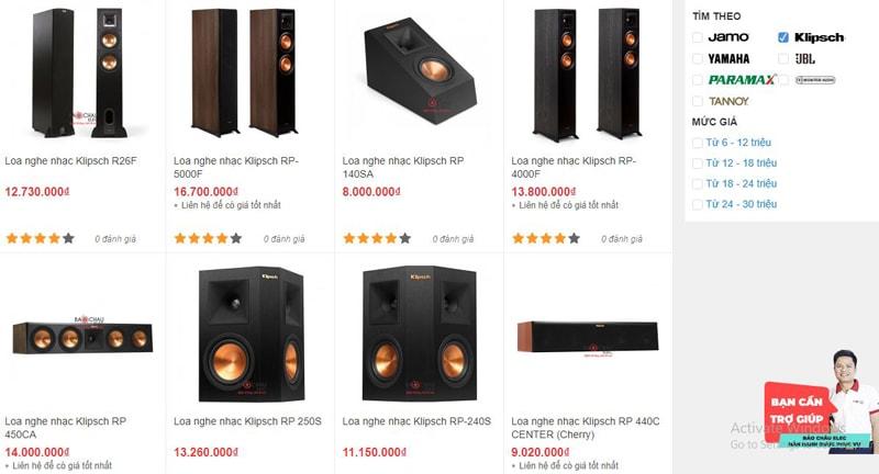 Mua loa nghe nhạc Klipsch TPHCM giá tốt nhất thị trường tại Bảo Châu Elec