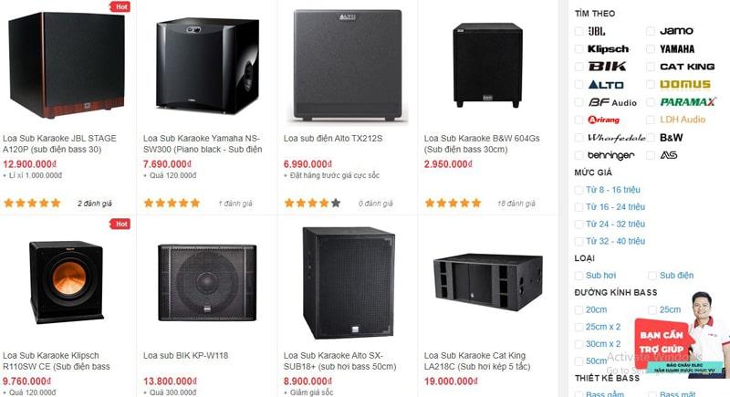 Bảo Châu Elec Đà Nẵng bán loa sub karaoke giá rẻ nhất thị trường