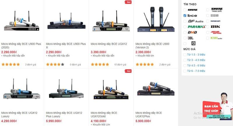 Bảo Châu Elec TPHCM bán micro không dây BCE chính hãng, tốt nhất thị trường