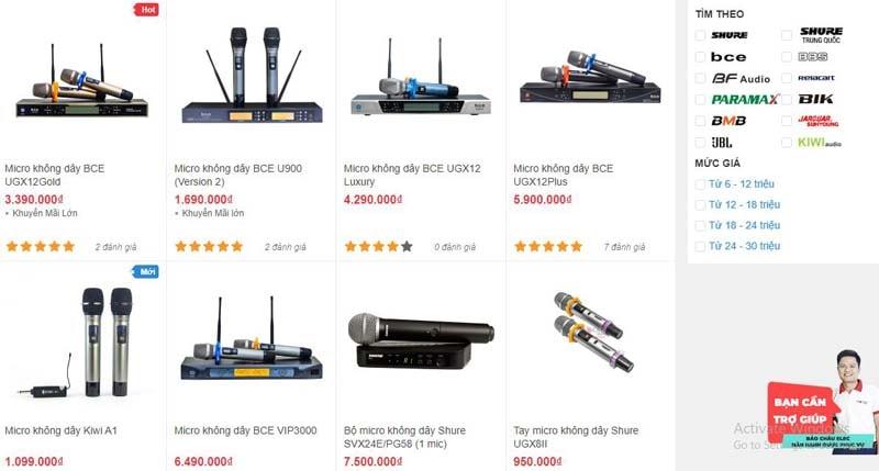 Những bộ micro không dây chính hãng, giá tốt tại Bảo Châu Elec Đà Nẵng