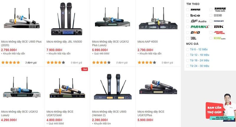 Những bộ micro không dây chính hãng, giá tốt tại Bảo Châu Elec Hà Nội
