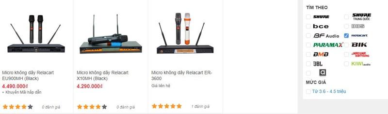 Micro khoog dây Relacart đang được bán tại Bảo Châu Elec Hồ Chí Minh