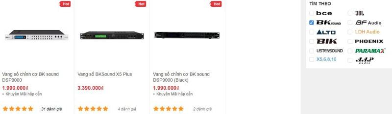 Vang số karaoke BK Sound đang có tại showroom âm thanh Bảo Châu Elec TPHCM