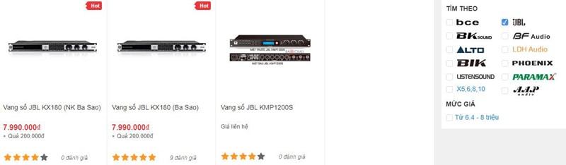 Các mẫu vang số karaoke JBL chính hãng tại Bảo Châu Elec HCM