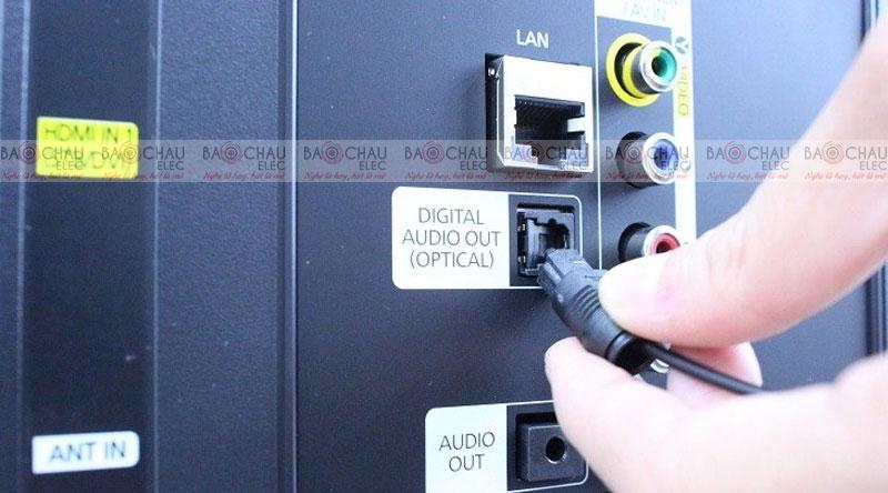 Kết nối tivi và amply qua cổng Optical