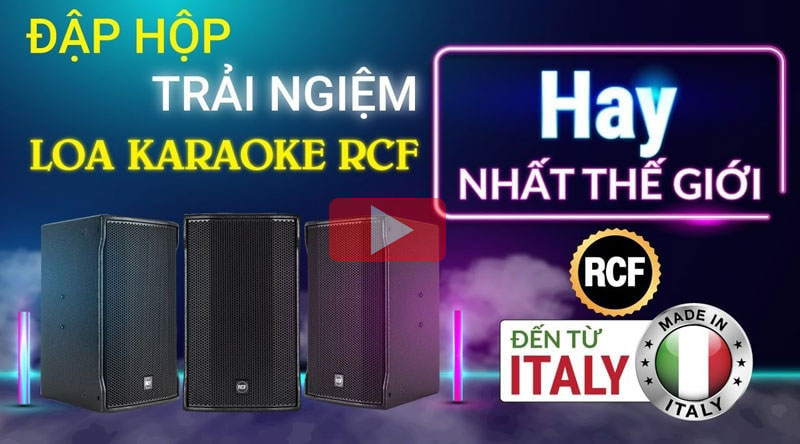 Đập hộp Loa RCF 4110 Italy
