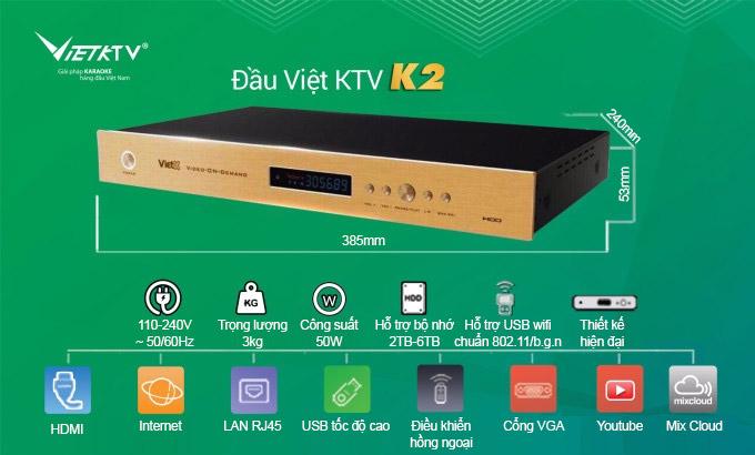 Ưu điểm của đầu VietKTV K2 ổ cứng 4TB