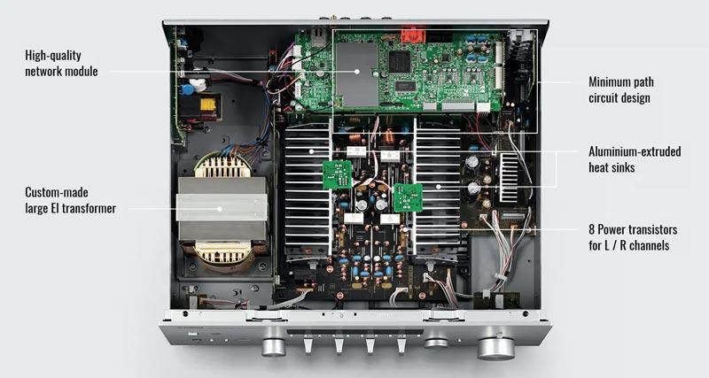 Amply YamahaR-N803 Thiết kế mạch tinh vi