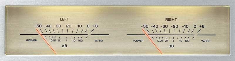 Amply Yamaha A-S1100 (Bạc) Đồng hồ đo mức độ phản ánh trực quan sự năng động trong âm nhạc