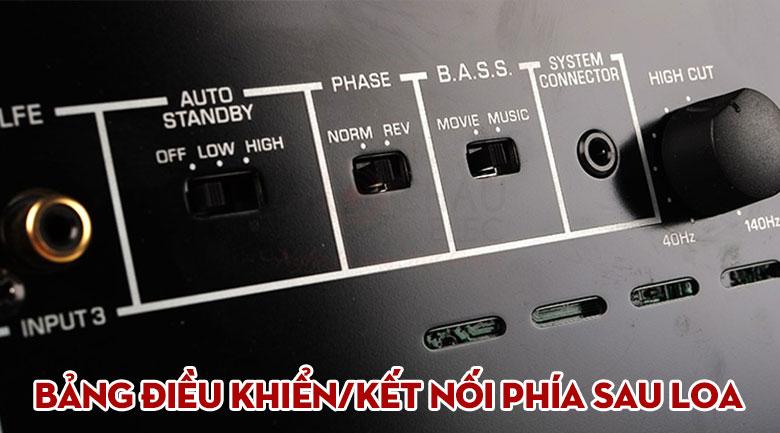 Thiết kế tủ cao cấp ứng tương xứng với thiết bị HiFi cao cấp của Loa Yamaha NS-SW1000 (Piano Black)