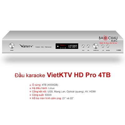 Đầu karaoke VietKTV HD Pro 4TB