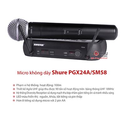 Bộ micro không dây Shure PGX24A/SM58