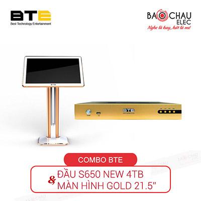 Combo đầu karaoke BTE (Đầu S650 New 4TB + Màn Gold 21.5)