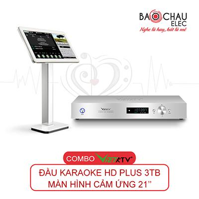 Combo Đầu karaoke VietKTV HD Plus 3TB + Màn hình 21inch