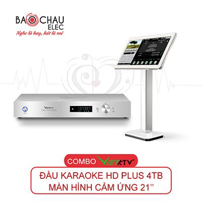 Combo VietKTV HD Plus 4TB + Màn hình 21inch