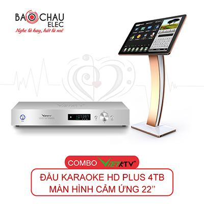 Combo đầu karaoke VietKTV HD Plus 4TB + Màn hình 22inch