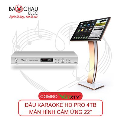 Combo đầu karaoke VietKTV HD Pro 4TB + Màn hình 22inch