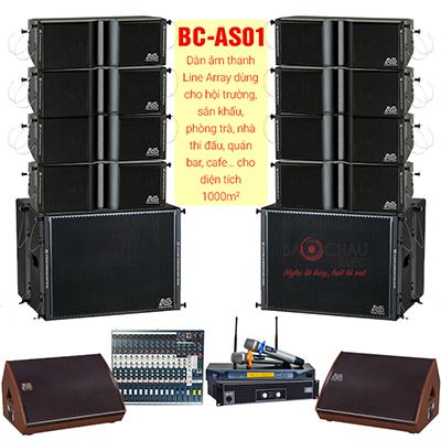 Dàn âm thanh BC-AS01 (cho diện tích 1000m2)