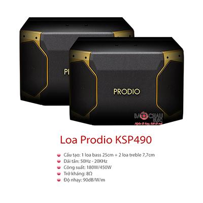 Loa Karaoke Prodio KSP490 (bass 25cm)