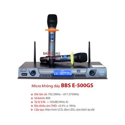 Micro BBS E-500GS