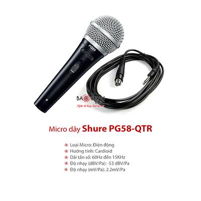 Micro có dây Shure PG58-QTR