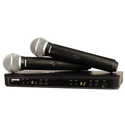 Bộ micro không dây Shure BLX288A/PG58 (2micro)