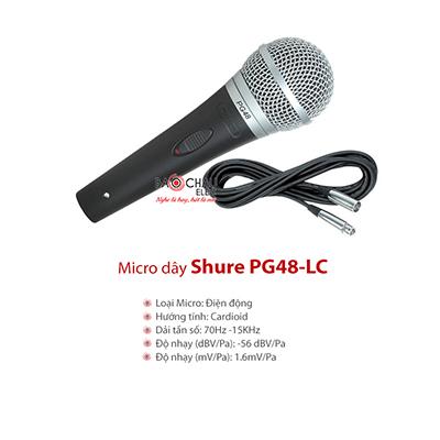 Micro có dây Shure PG48-LC