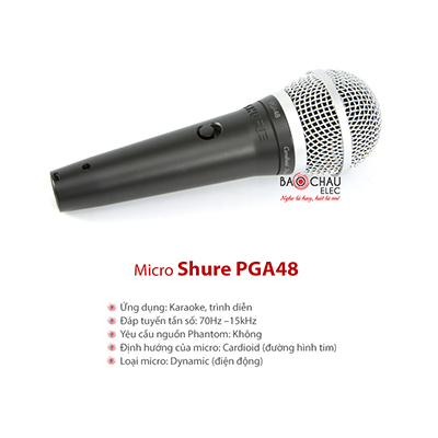 Micro dây Shure PGA48