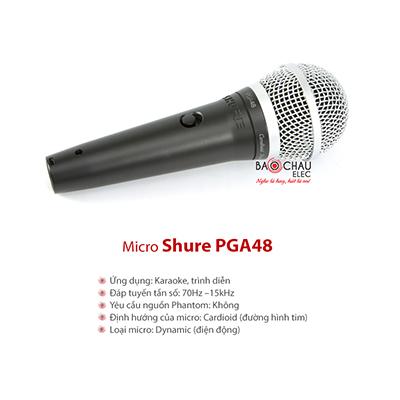Micro có dây Shure PGA48
