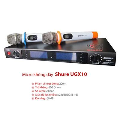 Micro không dây Shure UGX10