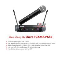 Bộ micro Shure PGX24A/PG58