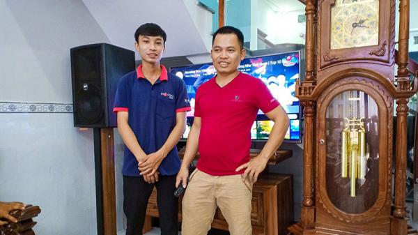 Lắp đặt dàn karaoke BF adio cực hay cho gia đình anh Hậu (Bình Tân, HCM)