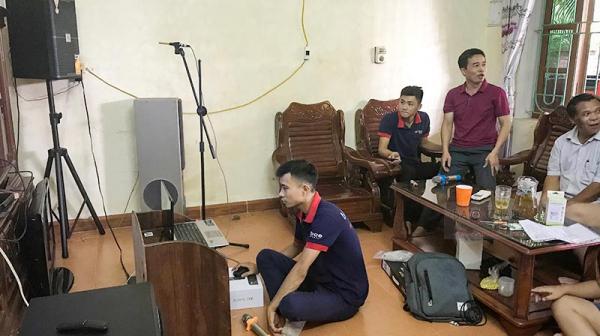 Lắp đặt dàn karaoke gia đình cao cấp của anh Bích (Vĩnh Phúc)