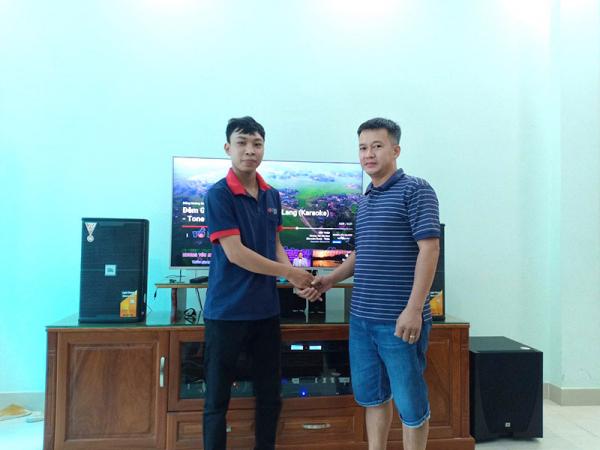 Lắp đặt dàn karaoke gia đình cao cấp đồng bộ JBL cho anh Trung (P.17 -Gò Vấp)