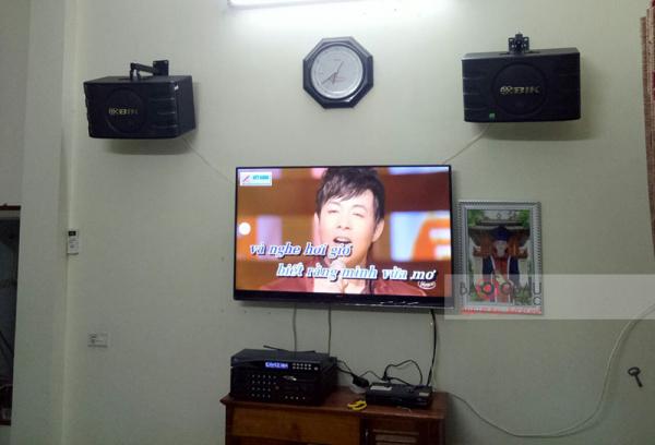 Lắp đặt dàn karaoke gia đình hay, giá tốt cho anh Dương (Gia Lâm - HN)