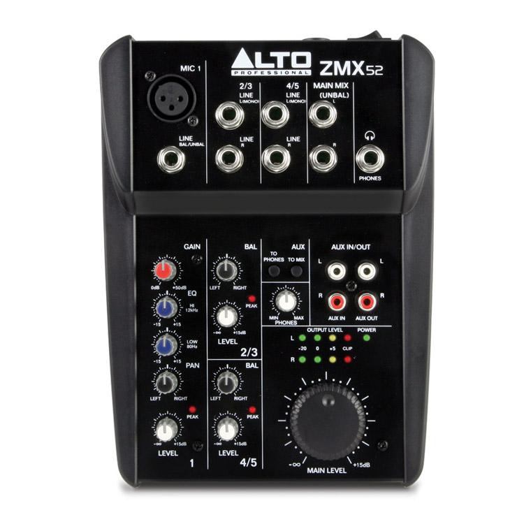 Bàn mixer Alto ZMX52 (5 kênh)