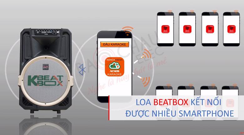 VớiLoa Acnos Beatbox CB39U có thể Kết nối được với nhiều điện thoại một lúc