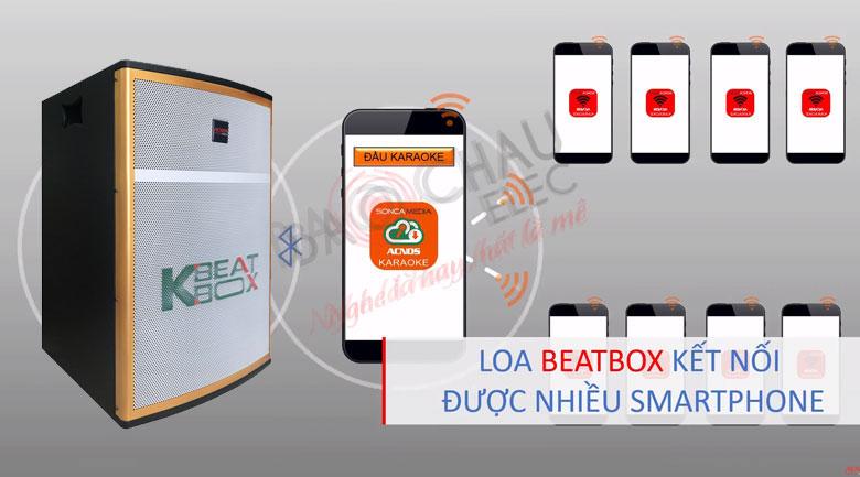 VớiLoa Acnos Beatbox CB42W có thể Kết nối được với nhiều điện thoại một lúc