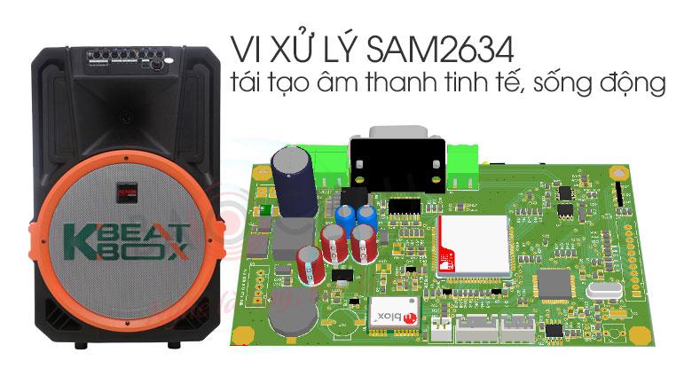 Vi xử lý âm thanh tiên tiến của loa Acnos Beatbox KB39U