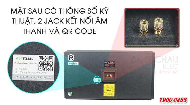 Quý khách mua loa có thể kiểm tra mã vạch để chứng minh hàng chính hãng của Loa BIK BS-998X