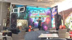 Lắp đặt âm thanh ngoài trời của quán cafe Thiên Thai - Đồng Nai