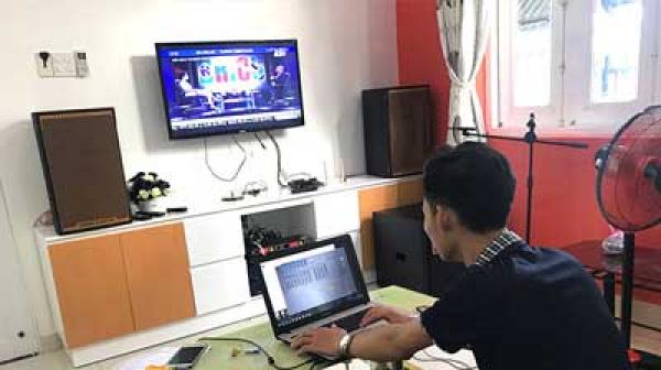 Lắp đặt dàn karaoke cao cấp cho gia đình chị Trung (TP.HCM)