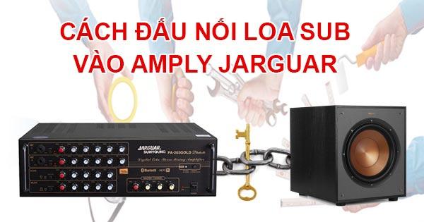 Cách đấu nối loa sub vào amply Jarguar hay nhất