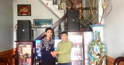 Lắp đặt dàn karaoke cao cấp cho gia đình chú Tùng ở Nam Định đón Tết