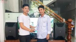 Lắp đặt dàn karaoke cao cấp của gia đình anh Tùng tại Đà Nẵng